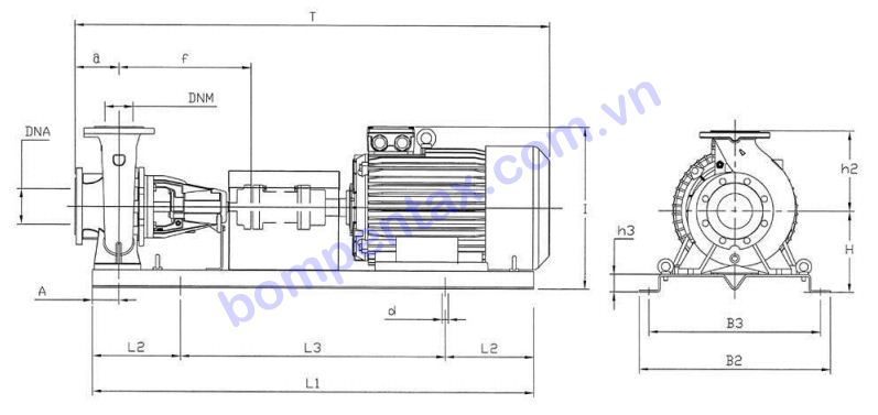 Cấu tạo máy bơm nước công nghiệp Pentax CAX/CATX